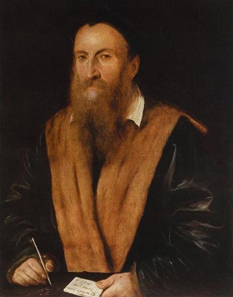 Portrait de Romanino par Lattanzio Gambara